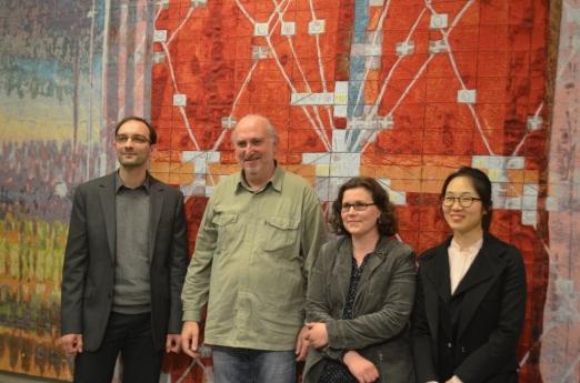 Eine gemeinsame Leistung. Die Autoren von SEPIA: Andreas Köppe, Ulrich Reimkasten, Katharina Stark und Soo Youn Kim (v.l.)
