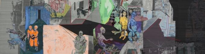 Maria Nickel - Momentraum - 2014 - 170 x 637 cm - Jaquardgewebe
