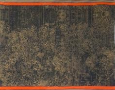Robert Filipski - Jacquardmuster - 2014 - 60 x 80 cm - Jacquardgewebe, Bronze, Titan, Polyester, Effektgarn, Hanf