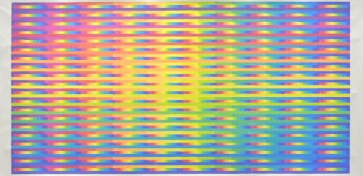 Martin Feistauer - Regenbogenlicht - 2016 - Entwurf für Glasfenster - Acryl auf Leinwand - 105 x 230cm