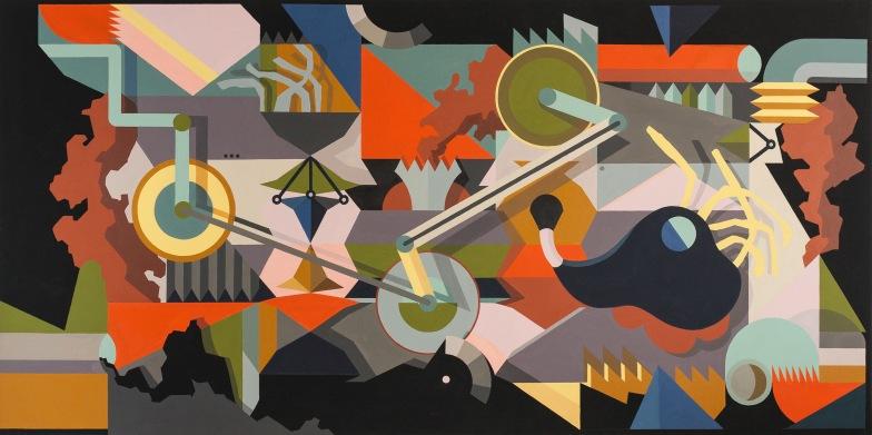 Hanna Müller-Kaempffer - Das Rätsel der Ordnung - 2014 - 130 x 275 cm, Acryl auf Leinwand