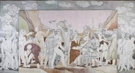 Ulrich Reimkasten - Fest der Lebensfreude - 1982- 250 x 470 cm - Gobelin, Wolle