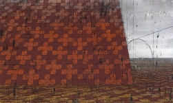 Ulrich Reimkasten - Busca - 2007 - 170x280 cm - Pigmente, Acryl, Leim, Kohle auf Leinwand