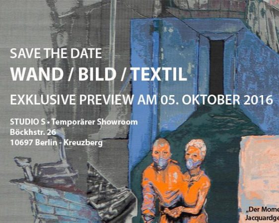 save the date_Wand Bild Textil